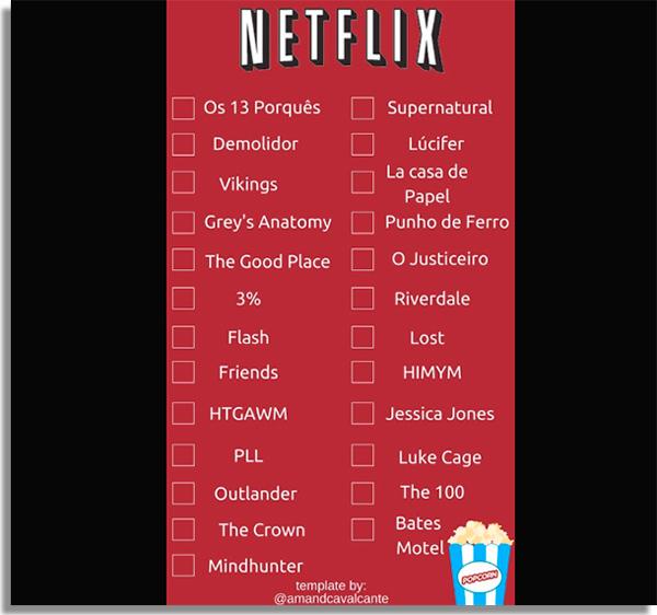 Favoritas da Netflix