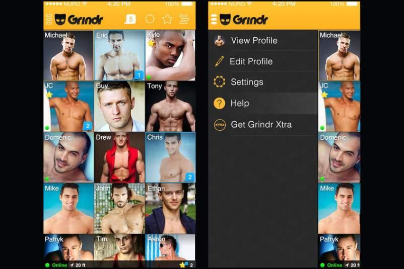Screenshot do Grindr