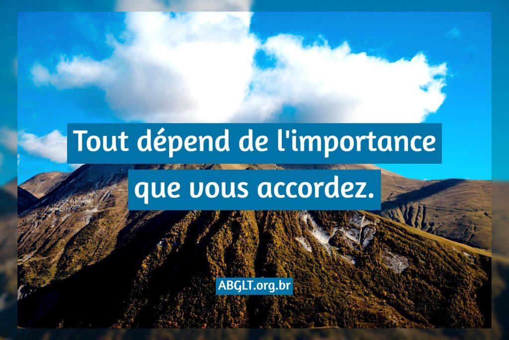 Tout dépend de l'importance que vous accordez.