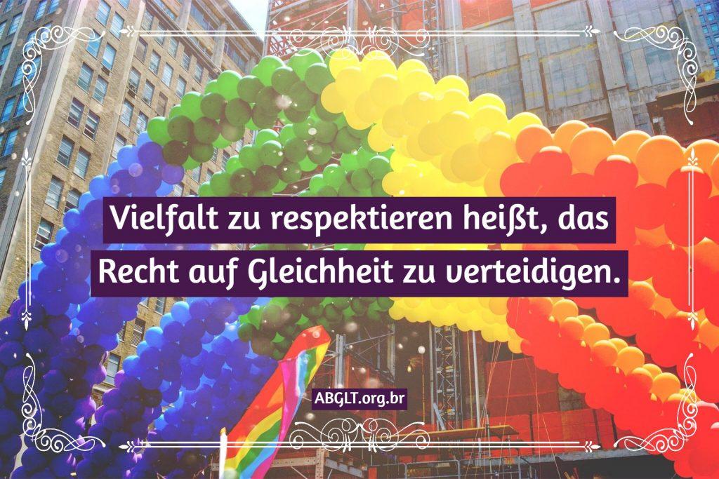 Vielfalt zu respektieren heißt, das Recht auf Gleichheit zu verteidigen.