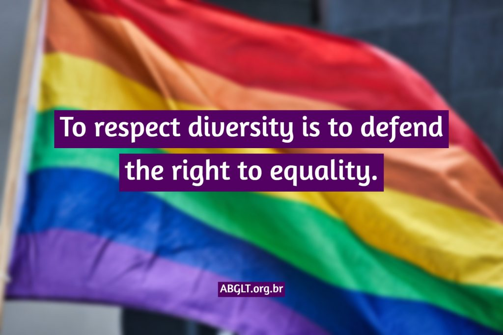 To respect diversity is to defend the right to equality.