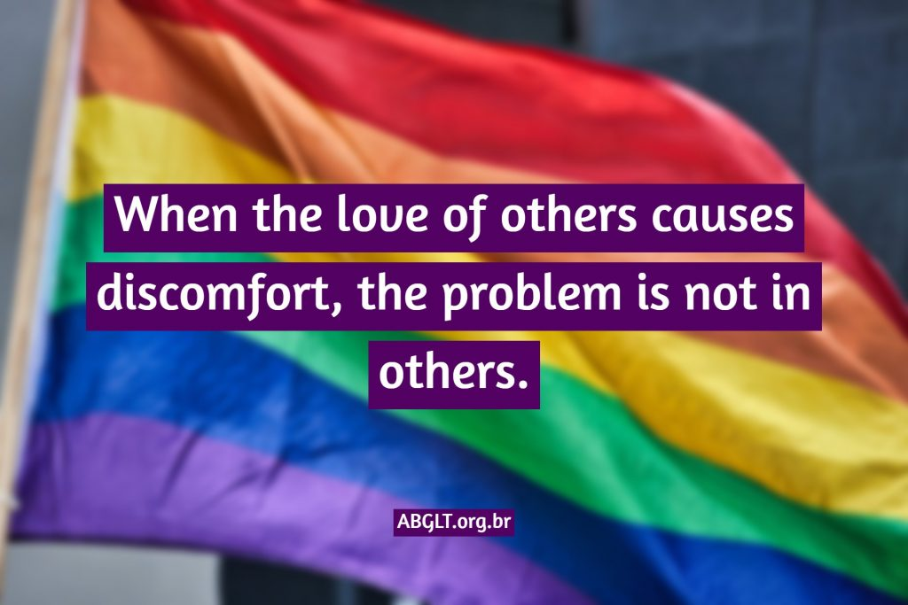 When the love of others causes discomfort, the problem is not in others.