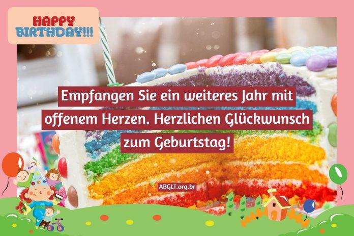 Happy Birthday Nachricht-Gluckwunschsatze Message