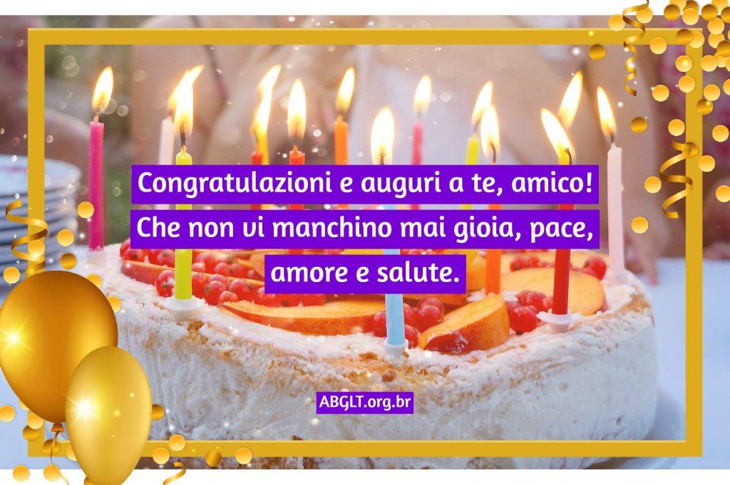 Congratulazioni e auguri a te, amico! Che non vi manchino mai gioia, pace, amore e salute.