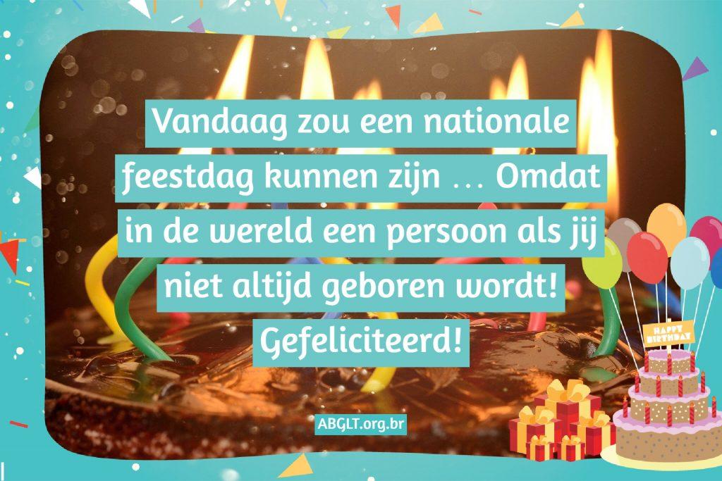 Vandaag zou een nationale feestdag kunnen zijn … Omdat in de wereld een persoon als jij niet altijd geboren wordt! Gefeliciteerd!