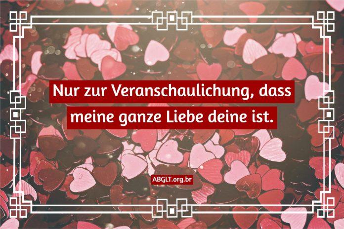 Liebeserklärungen in Phrasen und Botschaften