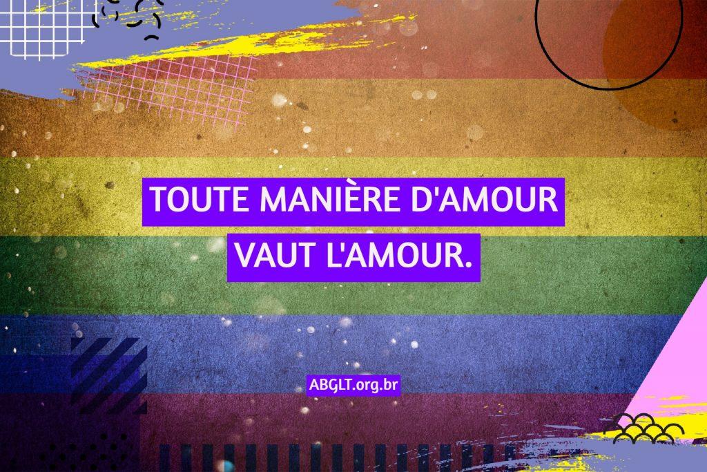 TOUTE MANIÈRE D'AMOUR VAUT L'AMOUR.